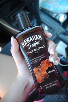 Hawaiian tropic tanning oil