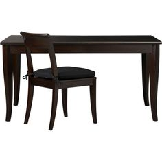 Cabria Dark Extension Dining Table in Dining Tables | Crate and Barrel