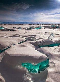 Awesome views Nishizawa gorge, Yamanashi, Japan Jokulsarlon, Iceland Turquoise Ice - Lake Baikal, Russia