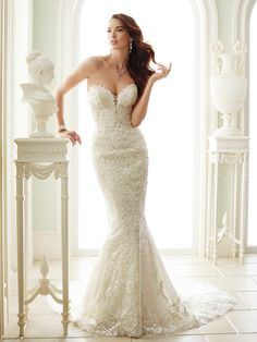 Marilyn Monroe would break some hearts in one of these wedding dresses from Sophia Tolli's Spring 2017 collection.