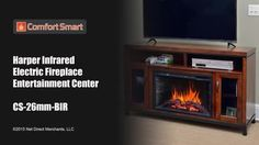 <3 Harper Infrared Electric Fireplace Video, Entertainment Center in Birch. <3