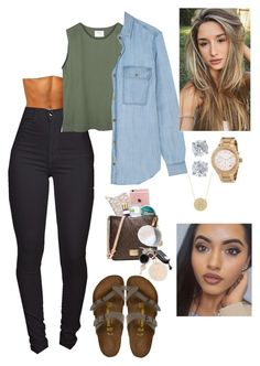 """Untitled #611"" by bennysgirl on Polyvore featuring Birkenstock, MICHAEL Michael Kors, Michael Kors, Tiffany & Co. and Jennifer Meyer Jewelry"
