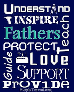 Father's Day Subway Art {FREE Printables!} - Mom On Timeout