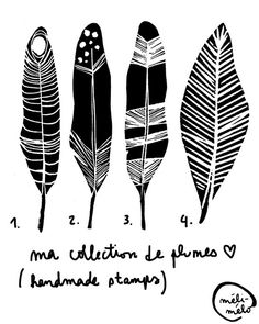 feather collection by méli-mélo studio, via Flickr