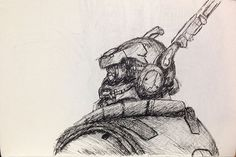 """Personagem Briareos do filme """"Appleseed: Alpha"""" Hero Movie, Apple Seeds, Drawings, Art, Character, Sketches, Craft Art, Kunst, Drawing"""