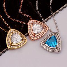 Bijoux Colliers en Utilisez cristal Swarovski et Or 18KGP femmes GIFT * PN847