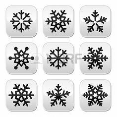 #Snowflake #winter vector                                                                                                                                                                                 Más