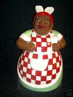 BLACK AMERICANA AUNT JEMIMA KITCHEN COOKIE JAR CANISTER
