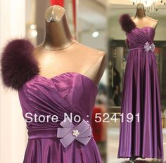 2013-Sexy-Prom-Dresses-Purple-Sathin-One-shoulder-Sweetheart-Draped-Handmake-Flower-Feather-Evening-Party-dresses.jpg (689×679)