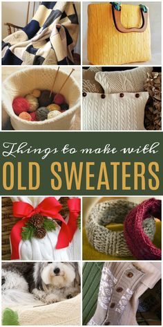 Things to make with Old SweatersYou can find Old sweater and more on our website.Things to make with Old Sweaters Fabric Crafts, Sewing Crafts, Sewing Projects, Sewing Hacks, Sewing Tutorials, Diy Projects, Alter Pullover Diy, Old Sweater Crafts, Pullover Upcycling