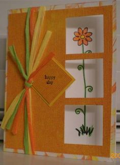 Happy Day using Stampin Up Nice and Narrow
