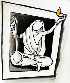 Meera Painting - Meera Series 005 by Rajendra Bhatodra