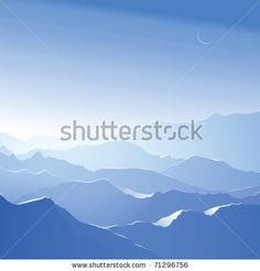 stock vector : Snowy mountains. Vector landscape