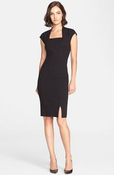 St. John Collection Embellished Cap Sleeve Knit Dress available at #Nordstrom