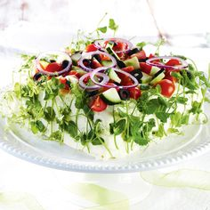 Kreikkalainen voileipäkakku | K-ruoka Sandwich Cake, Tea Sandwiches, Sandwich Recipes, Savoury Baking, Savoury Cake, Fruit Bread, Salty Cake, Bread Cake, Culinary Arts