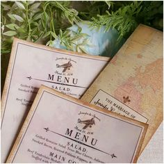 Keeping busy this week with these custom wedding reception menus with vellum overlay and tri-fold programs!