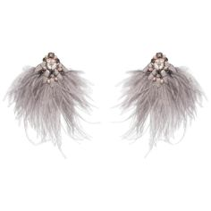 Ranjana Khan - Niteroi- Ostrich Feather Mother-Of- Earring Other Pearl Mother Of Pearl Earrings, Mother Pearl, Feather Earrings, Clip On Earrings, Ostrich Feathers, Vintage Clip, Antique Earrings, Statement Earrings, Jewels