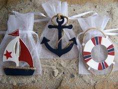 Sailing/boat party favor bags