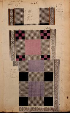 1863 - [French textiles] sample books by the Maison Robert firm, Paris; Ducroquet, Victor illustrator