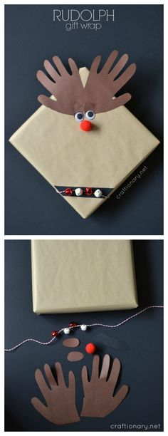 Cute gift wrap idea kids can make for the teachers and friends.