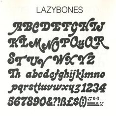 Funky Fonts From the 1979 Letraset. - The Groovy Archives Cool Fonts Alphabet, Tattoo Fonts Alphabet, Typography Alphabet, Typography Fonts, Typography Design, Creative Typography, Cool Letter Fonts, Bubble Letter Fonts, Modern Typography