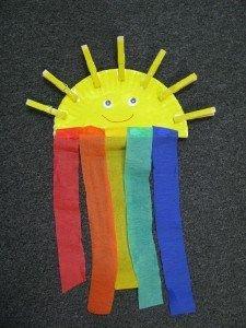 preschool rainbow paper plate craft pre-k kindergarten