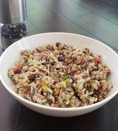 Cold Wild Rice Salad Rice Salad Recipes, Easy Pasta Recipes, Bean Recipes, Diet Recipes, Cooking Recipes, Healthy Recipes, Chilli Recipes, Vegetarian Recipes, Healthy Grains