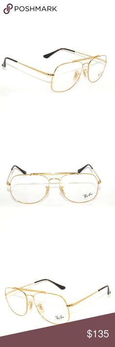 280f62aff9f Rayban Eyeglasses 6389 Gold Frame with clear lens New Comes with Rayban  case authentic Ray-Ban Accessories Glasses