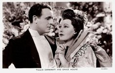 Tullio Carminati and Grace Moore in One Night of Love. British postcard in the Film Partners Series, London, no. P 151. Photo: Columbia. Publicity still for <i>One Night of Love</i> (Victor Schertzinger, 1934).