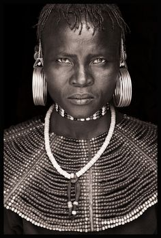 Northern Kenya, Portrait by John Kenny African Tribes, African Men, African Beauty, John Kenny, Black And White Posters, Black And White Canvas, Afrique Art, Tribal Face, Arte Tribal