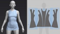 redhead 3 by Eugene Fokin on ArtStation. Chun Li Costume, Fantasy Dress, Pattern Cutting, Photo Tutorial, Zbrush, Character Design, 3d Character, Fashion Sketches, Clothing Patterns