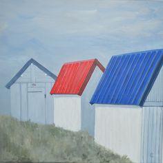 Les cabines de plage de Gouville sur mer