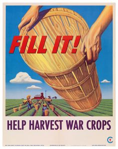 A US propaganda poster of WW2 on agriculture.