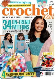 Crochet Now 2019 July Cool Jumpers, Summer Jumpers, Quick Crochet, Learn To Crochet, Crochet Designs, Crochet Patterns, Crochet Magazine, Crochet Books, Baby Socks