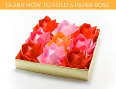 credit: ssphotography [http://www.bigstockphoto.com/image-7629465/stock-photo-origami-roses]