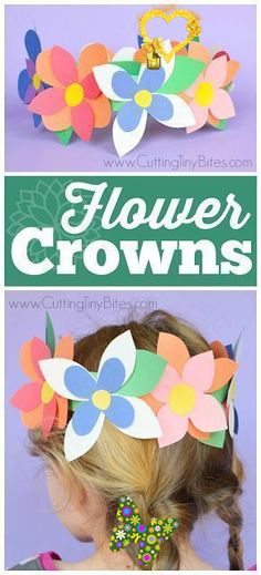 Flower Crown Spring Craft Flower Crowns- great easy spring craft for preschool, kindergarten, or elementary kids. Work on fine motor skills while making pretty flower crowns with just a few simple materials!<br> Flower Crowns- great easy spring craft for preschool, kindergarten, or elementary kids. Work on fine motor skills while making pretty flower crowns with just a few simple materials! Spring Crafts For Kids, Crafts For Kids To Make, Crafts To Sell, Projects For Kids, Kids Crafts, Spring Crafts For Preschoolers, Craft Projects, Quick Crafts, Simple Crafts