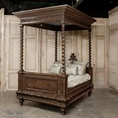 Antique Bedroom Furniture / Beds ~ Old world Ornate carved wood ...