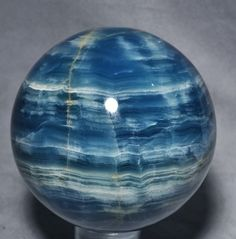 Blue Onyx Natural Crystal Sphere - Argentina