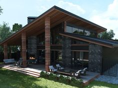 Exterior - stunning ideas for beautiful house 2019 31 > Fieltro.Net Exterior - Home pictures - stunning ideas for beautiful house 2019 -- Modern House Plans, Modern House Design, Casas Containers, Dream House Exterior, Industrial House, Home Fashion, Exterior Design, Modern Exterior, Cafe Exterior