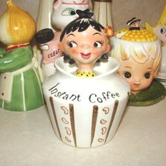 lefton coffee girl - My grandmother was the treasurer of the Lefton company.