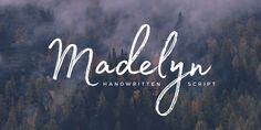 Madelyn is handwritten script font based on the expression of real handwriting. Amiable and organic, it is perfect if you want to convey individuality and style. It's written by a calligraphy pen with casual dry strokes and a signature style.  Madelyn is perfect for branding projects, logos, product packaging, posters, invitations, greeting cards, titles, blogs, and more.