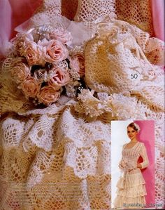 Now this dress crochet wedding dress I like, the bottow is really nice, with diagrams