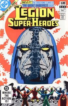 LSH 294! Darkseid! The culmination of the half-year Great Darkness saga! Plus, superb Keith Giffen/Larry Mahlstedt artwork that out-Crisis'ed the mid-80s Crisis mini-series. This was great reading, as were the five or six issues that led up to it. Giffen's LSH later work would never equal it, much less top it.