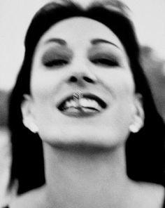 Anjelica Huston, 1990. Photo: Herb Ritts.