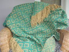 Vintage Thick Retro Handmade Teal and Tan by EnchantingArtistry, $29.95