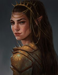 Artstation - elven girl , sara meseguer fantasy females в 20 Fantasy Races, Fantasy Rpg, Medieval Fantasy, Fantasy Warrior, Warrior Queen, Fantasy Character Design, Character Design Inspiration, Character Art, Elfa