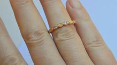 14K Rose Gold Marquis 1/2 Eternity Ring with Natural Pink and Yellow Diamonds