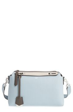 FENDI 'Small By The Way' Calfskin Leather Shoulder Bag. #fendi #bags #shoulder bags #hand bags #leather #lining #