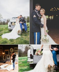 Outdoor rustic spring wedding #military #wedding #bride #groom #navy #blush #rustic #spring #cedarwoodweddings Photos by Krista Lee Photography