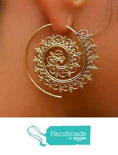 orecchini in ottone - ottone orecchini a spirale - orecchini gitani - orecchini tribali - orecchini etnici - orecchini indiani - orecchini di dichiarazione - grandi orecchini - gioielli in ottone - gioielli tribali da Ronyibiza Jewelry https://www.amazon.it/dp/B01NAX82MX/ref=hnd_sw_r_pi_dp_iqePybSGZA2WF #handmadeatamazon